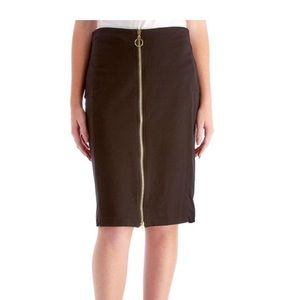 Bebe front zipper skirt size 2